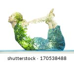combining nature with spiritual ... | Shutterstock . vector #170538488