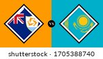flags icons  anguilla vs... | Shutterstock .eps vector #1705388740