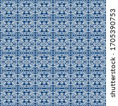traditional seamless blue... | Shutterstock . vector #1705390753
