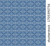 traditional seamless blue... | Shutterstock . vector #1705390756