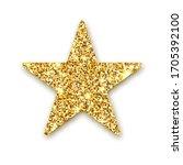 gold glitter vector star....   Shutterstock .eps vector #1705392100