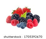 Different Ripe Tasty Berries O...