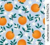 seamless pattern of oranges ... | Shutterstock .eps vector #1705396276