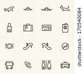 airport icon sets. line icons. | Shutterstock .eps vector #170540084