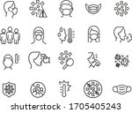 simple set of icons related to... | Shutterstock .eps vector #1705405243