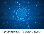 cyber security and  digital... | Shutterstock .eps vector #1705405690