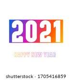 happy new year 2021 vector... | Shutterstock .eps vector #1705416859