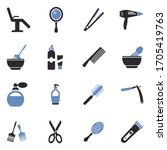 hair salon icons. two tone flat ... | Shutterstock .eps vector #1705419763