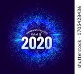 congratulations graduates 2020... | Shutterstock .eps vector #1705428436