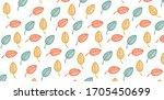 leaves background. hand drawn....   Shutterstock .eps vector #1705450699