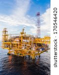 oil platform yellow color in... | Shutterstock . vector #170546420