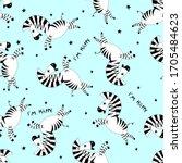 Seamless Pattern Cartoon Littl...