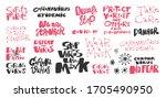 covid 19 sticker set for social ... | Shutterstock .eps vector #1705490950