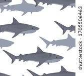 Dense Flock Of Tiger Sharks...