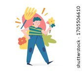 spring and summer illustration... | Shutterstock .eps vector #1705506610