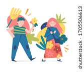 spring and summer illustration... | Shutterstock .eps vector #1705506613