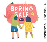 spring illustration with... | Shutterstock .eps vector #1705506616