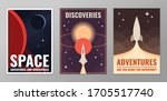 retro vintage space poster....   Shutterstock .eps vector #1705517740