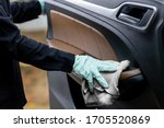 Car Disinfecting Service. Woman ...