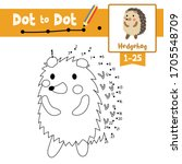 dot to dot educational game and ... | Shutterstock .eps vector #1705548709
