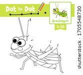 dot to dot educational game and ... | Shutterstock .eps vector #1705548730