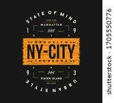 new york city graphic new... | Shutterstock .eps vector #1705550776