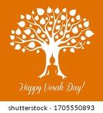 vesak day holiday. buddha... | Shutterstock .eps vector #1705550893