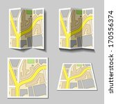 vector city navigation map icons | Shutterstock .eps vector #170556374