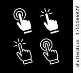 set of hand pointer or cursor... | Shutterstock .eps vector #1705566829