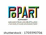 pop art style font design ... | Shutterstock .eps vector #1705590706