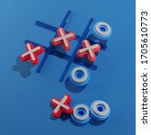 Board Game Tic Tac Toe. Blue...