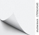 curled corner of paper on... | Shutterstock .eps vector #1705614160