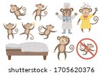 vector set with cute five... | Shutterstock .eps vector #1705620376