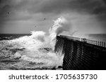 Crashing Waves Over The...
