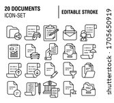 20 simple set of documents... | Shutterstock .eps vector #1705650919