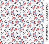 vintage floral background.... | Shutterstock .eps vector #1705651900