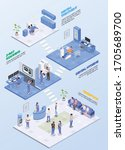 stomatology clinic isometric... | Shutterstock .eps vector #1705689700