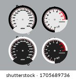 fjr. dial of motorcycle... | Shutterstock .eps vector #1705689736