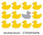 a non conformist depiction of a ... | Shutterstock .eps vector #1705693696
