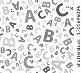 black and white abc letter... | Shutterstock .eps vector #1705696096
