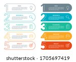 5 steps info graphic with...   Shutterstock .eps vector #1705697419