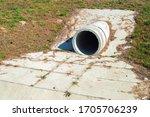 Concrete White Rainwater Pipe...