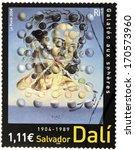 france   circa 2004  a stamp... | Shutterstock . vector #170573960