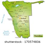 map of namibia as an overview... | Shutterstock . vector #170574836