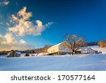 snow on a farm in rural york... | Shutterstock . vector #170577164