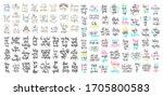 set of 100 hand lettering...   Shutterstock .eps vector #1705800583