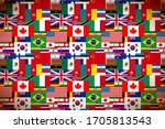 a lot of bright flags of... | Shutterstock . vector #1705813543