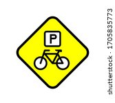 bike parking vector icon design ...