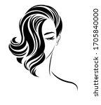 illustration of women shot hair ... | Shutterstock .eps vector #1705840000
