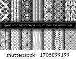 art deco patterns. seamless... | Shutterstock .eps vector #1705899199